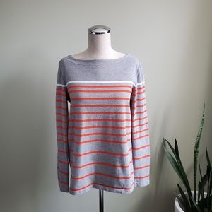 Gap Cotton 3/4 Sleeve Stripped Top Sz S